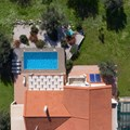 Aerial directly above the villa