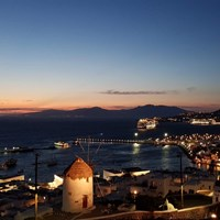 Mykonos Town by night